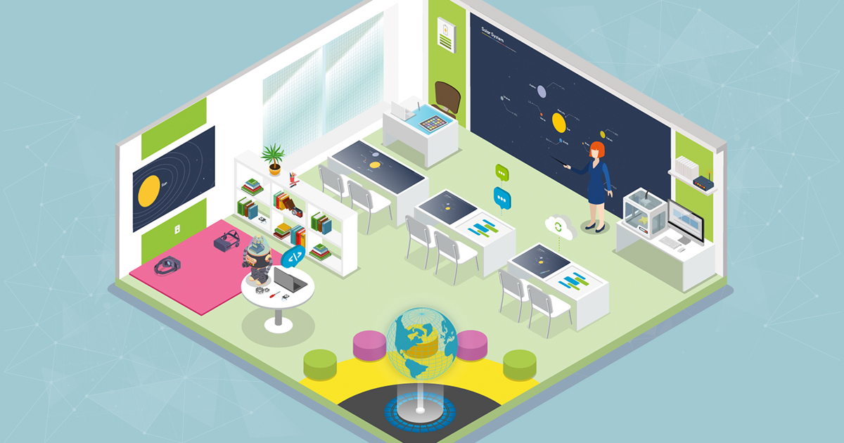Interactive Classroom Design Tools : Classroom of the future holograms d printers and touch